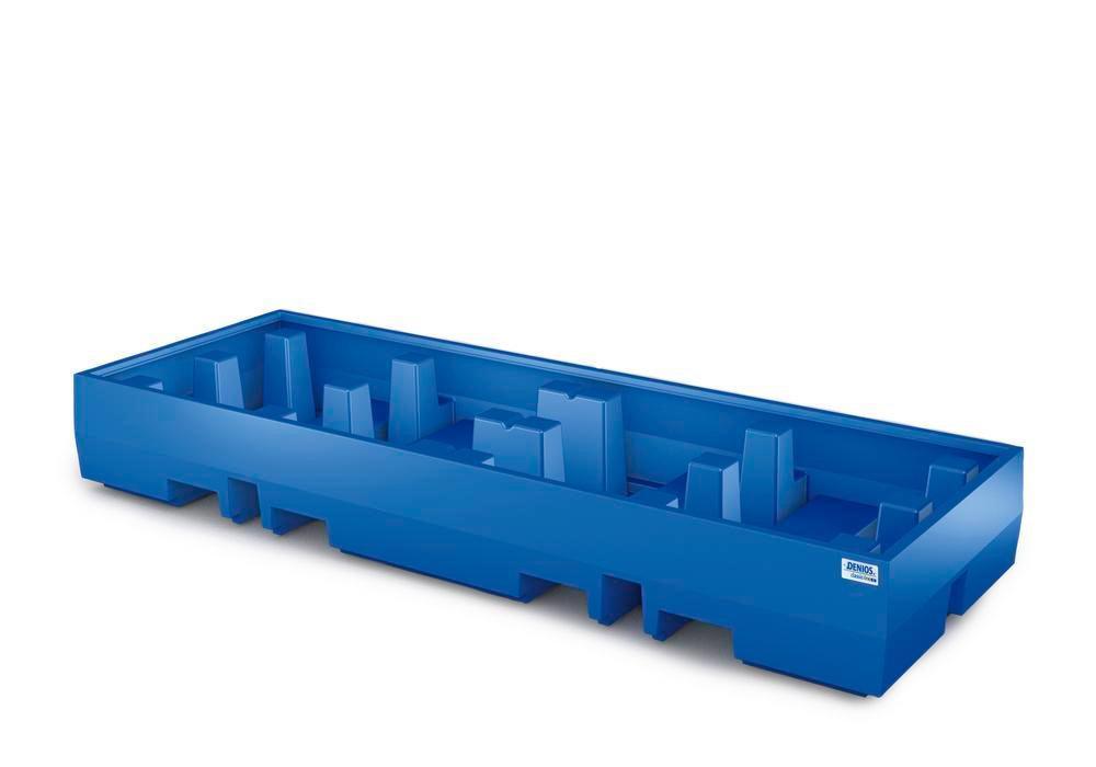 Auffangwanne PolySafe ECO - Polyethylen - Auffangvolumen 520 l - für 4 Fässer à 200 Liter auf 2 Europaletten