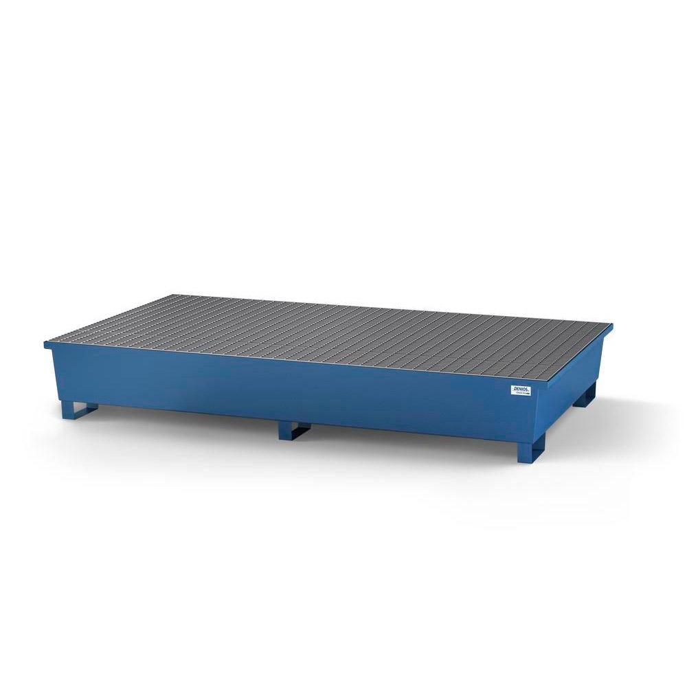 Auffangwanne classic-line - Stahl lackiert oder verzinkt - m. Abfüllbereich für 2 IBC - 2 Gitterroste