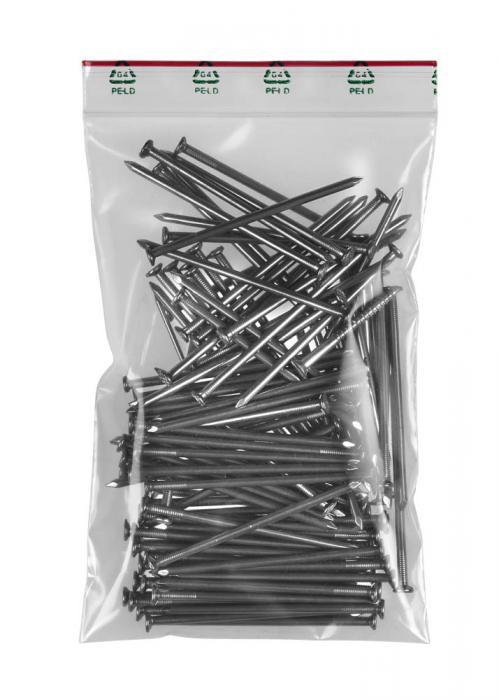 Zip-påsar - 90 µ - 1000 stycken - utan skrivfält - olika storlekar