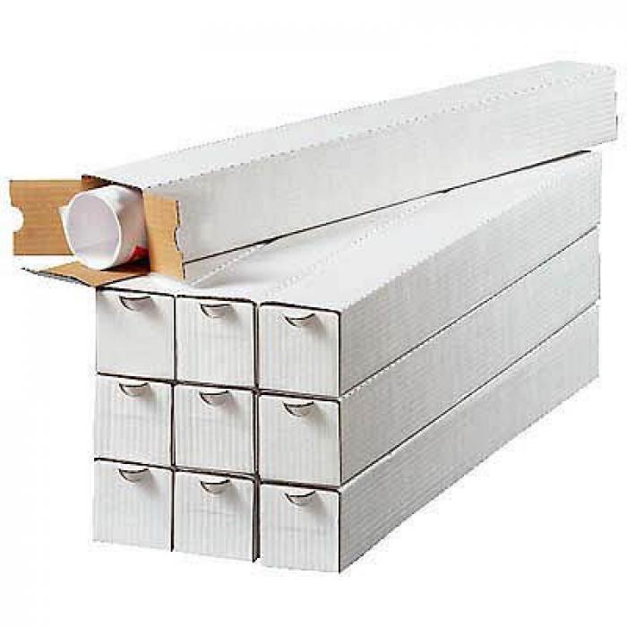 Kartonger - 4-kantiga - 20 stycken - olika storlekar - vita