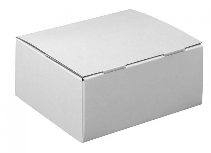 Paketkartonger - storlek XS-L - 1-vågig - 20 stycken - vit