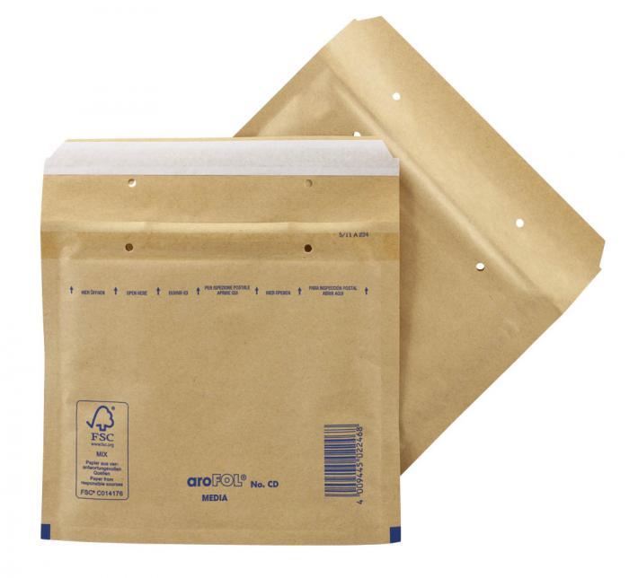 Luftpolsterversandtaschen -  Farbe braun oder weiß - VE 50-200 Stück