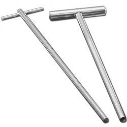 Qualirod cylindriska - ihåligt borra - V2A rostfritt stål - djup 200 mm