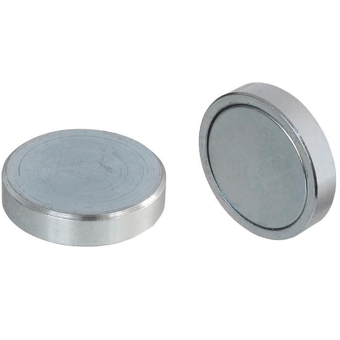 Flachtopfmagnet - aus Neodumium Iron Boron - Ø 6-32 mm