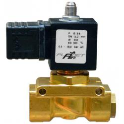 """Electromagnetic pressure relief - 2/2 - way solenoid valve G3 / 8 """"- normally open NO - PLANET-AIR"""