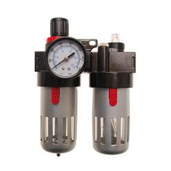 """Filtre à air comprimé / unité de graisseur avec régulateur de pression - 1/4 """"- max 15 bar."""