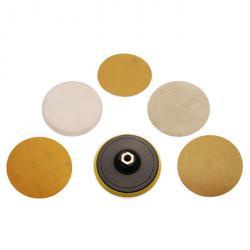 Schleif- und Polierscheibensatz - 125 mm