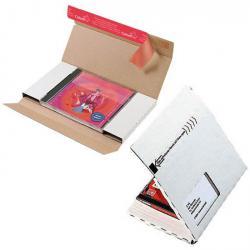 Paketkartonger - för CD-skivor - med och utan fönster - 50 st.