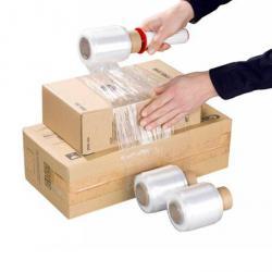 Bündelstretchfolie mit Hand-Abroller - 9 cm x 150 Meter