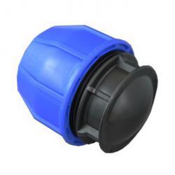 Bouchon de fermeture - polypropylène - pour tubes PE - tube Ø extérieur 20 à 110 mm - PN 12,5 à 16