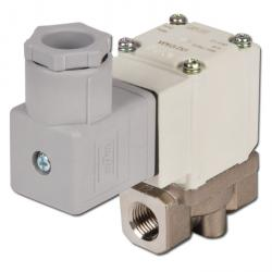 "2/2-way solenoid valve 1/8 ""to 3/8"" - up to 10 bar normally closed - aluminum housing"