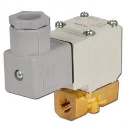 """Magnetventil - 2/2-Wege - Messing - Wasser/Druckluft - IG G 1/8"""" bis 1/4"""" - stromlos geschlossen - PN 0 bis 10"""