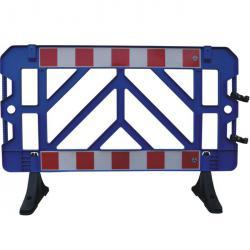 clôture de panneau - bleu - plastique - 1500 mm x 1000