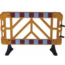 clôture de panneau - jaune - 1000 x 1500 mm - plastique