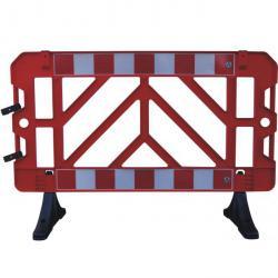 clôture de panneau - rouge - 1000 x 1500 mm - plastique