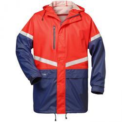 """Raincoat """"MELLERUD"""" - red / navy - EN 343 Norway"""