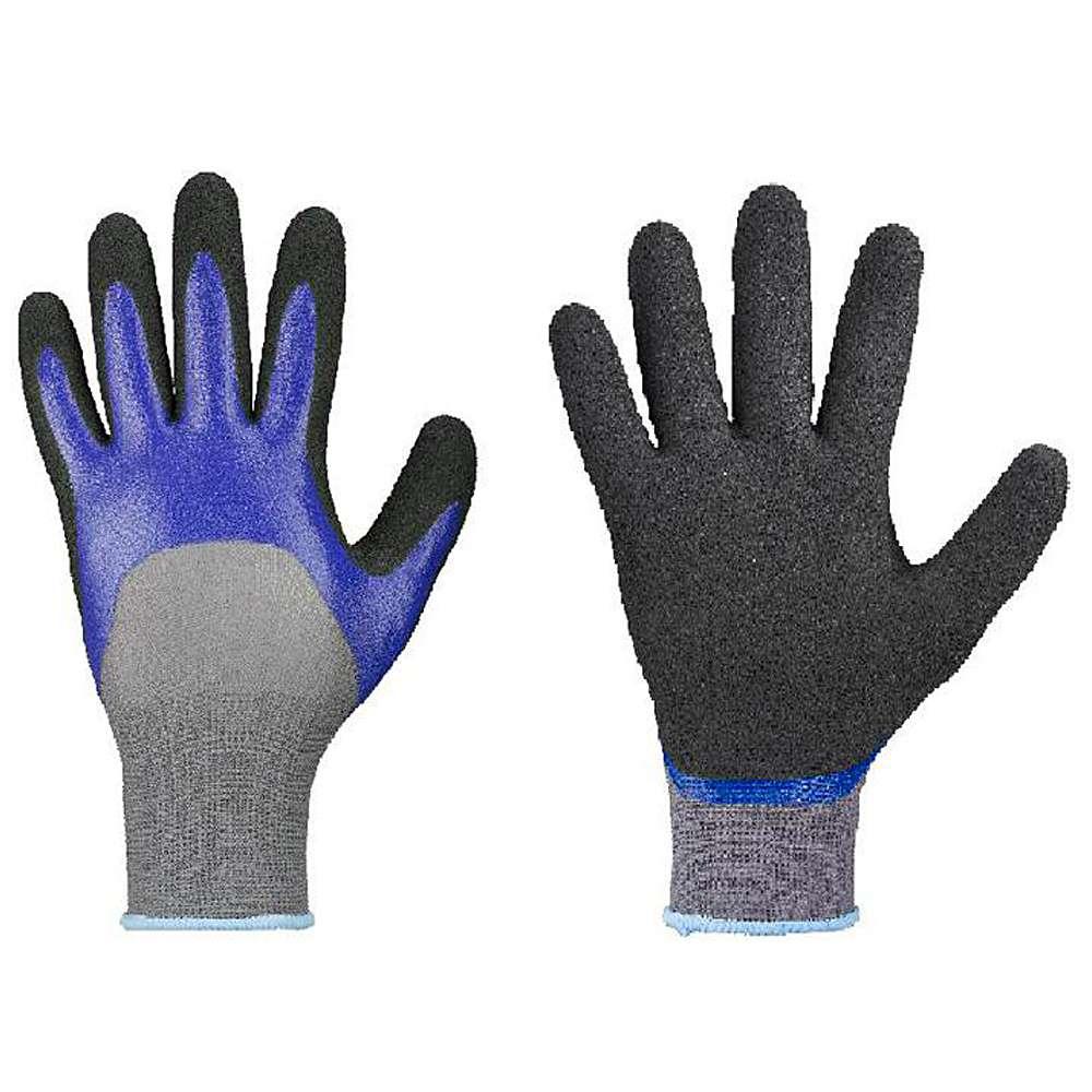 Skyddshandskar - nitrilbeläggning - grå/blå