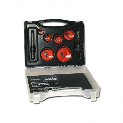Lochsägen-Koffer - für Elektriker - 8-teilig