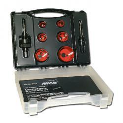 Lochsägen-Koffer - Elektriker - 8-teilig