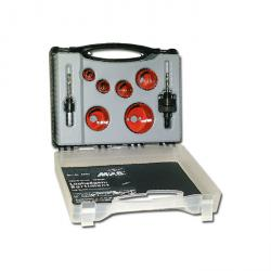Lochsägen-Koffer - für Sanitär - 8-teilig