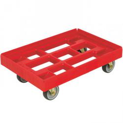 Dollies - color red - Thermoplastrad - carrying capacity 300 kg