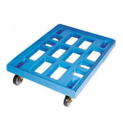 Dollies - color blue - Thermoplastrad - carrying capacity 300 kg