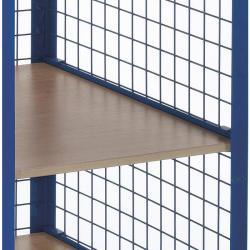 Floor flooring grid cupboard trolley - Capacity per shelf 50 kg