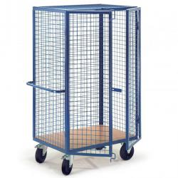 Grid cupboard trolley without lock - carrying capacity 500 kg