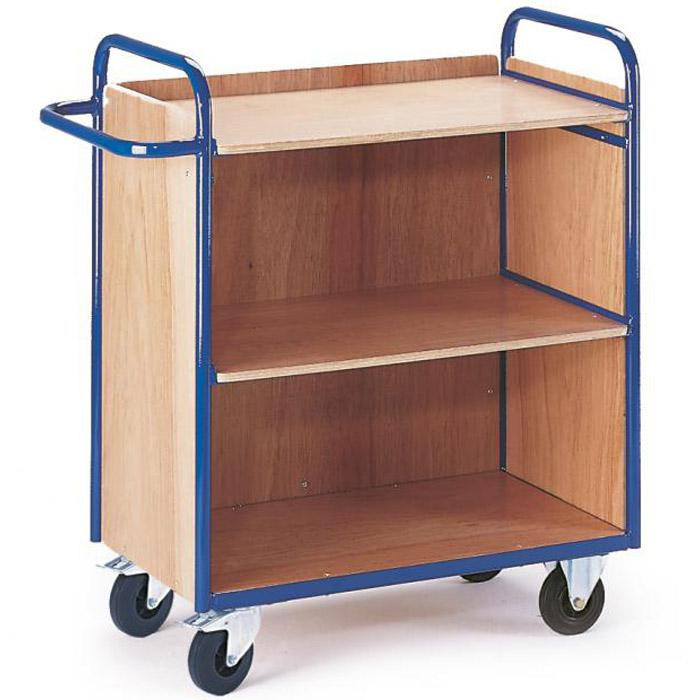 Shelved trolley with 3 walls - load 150 kg