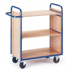 Shelved trolley with 2 walls - load 150 kg