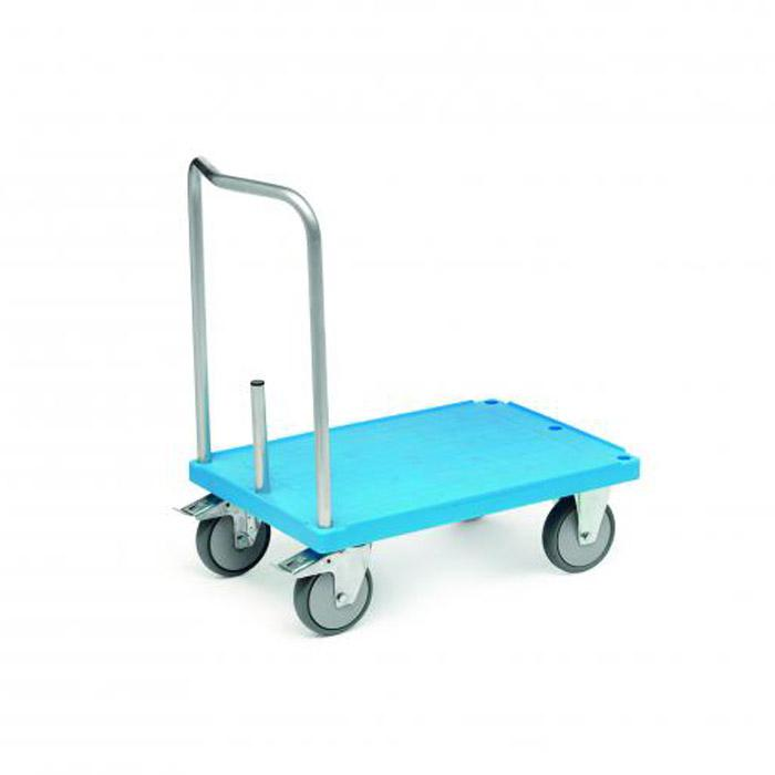 Push handle trolley - carrying capacity 500 kg - aluminum bracket