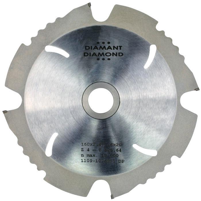 Diamant-Kreissägeblätter - 160-250 mm - für Gips/Zement