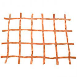 Zurrnetz für Paletten und Kleintransporter - 1300 x 900 mm - orange