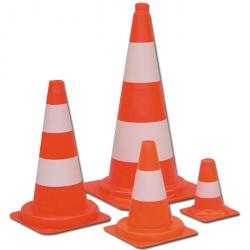 Conical Cones - PVC - Color white-orange - 1-2 rings - different sizes