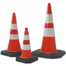 Traffic cones - Polyethylene - with black foot