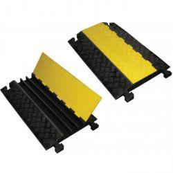Kabelbrücke aus Gummi - mit gelbem Klappdeckel