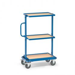 Trolley - with 3 floors - edge 10 mm high