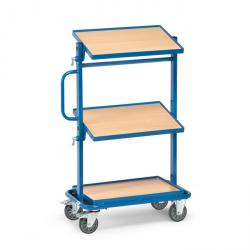 Trolley - with 3 floors - tiltable - carrying capacity 200 kg