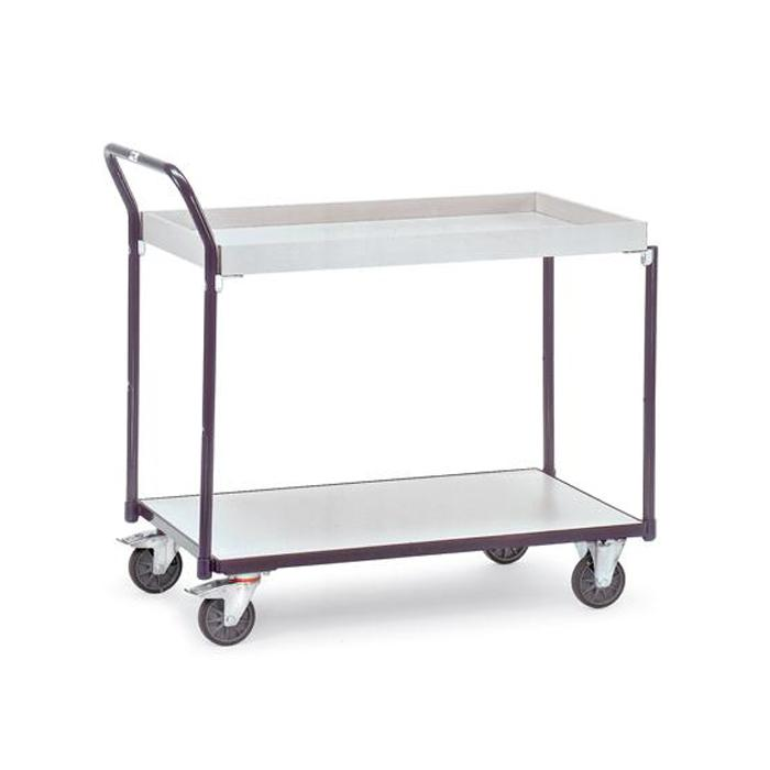 ESD Table trolley - with 1 floor and 1 box - electrically conductive design