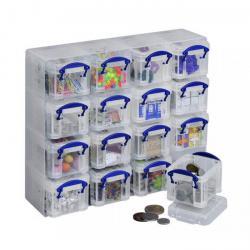 Kleinteilbox Kunststoffbox - 16x 0,14 l - transparent