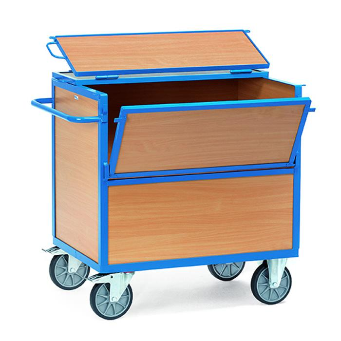 Pannello in legno van - con pareti e il pavimento in legno - con tappo