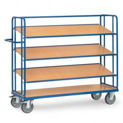 Shelved trolley - with 3 loose soils of wood - height 1560 mm