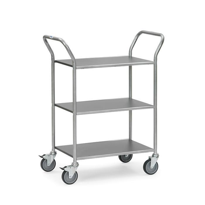 Trolley - con 2 o 3 piani solidi - 665 x 450 mm