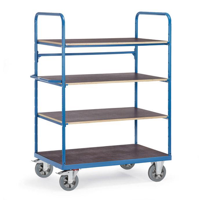 etagenwagen mit 4 b den aus holz h he 1800 mm. Black Bedroom Furniture Sets. Home Design Ideas