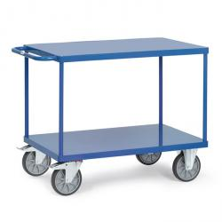 Table trolley - with 2 shelves made of sheet steel - flush with frame