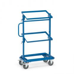 Trolley - tiltable loading surfaces - open frame