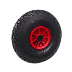 Pneumatisk hjul - med rullager - stål- eller plastfälg - hjul Ø 260 till 420 mm - lastkapacitet 200 till 550 kg