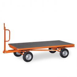 Industrial trailer - 2-axle bogie steering - 3 tons