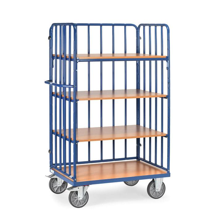 trolley accantonato con puntoni - pavimenti in legno - Capacità 600 kg