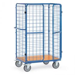 Package car - 3 wire mesh walls - 600 kg - double doors